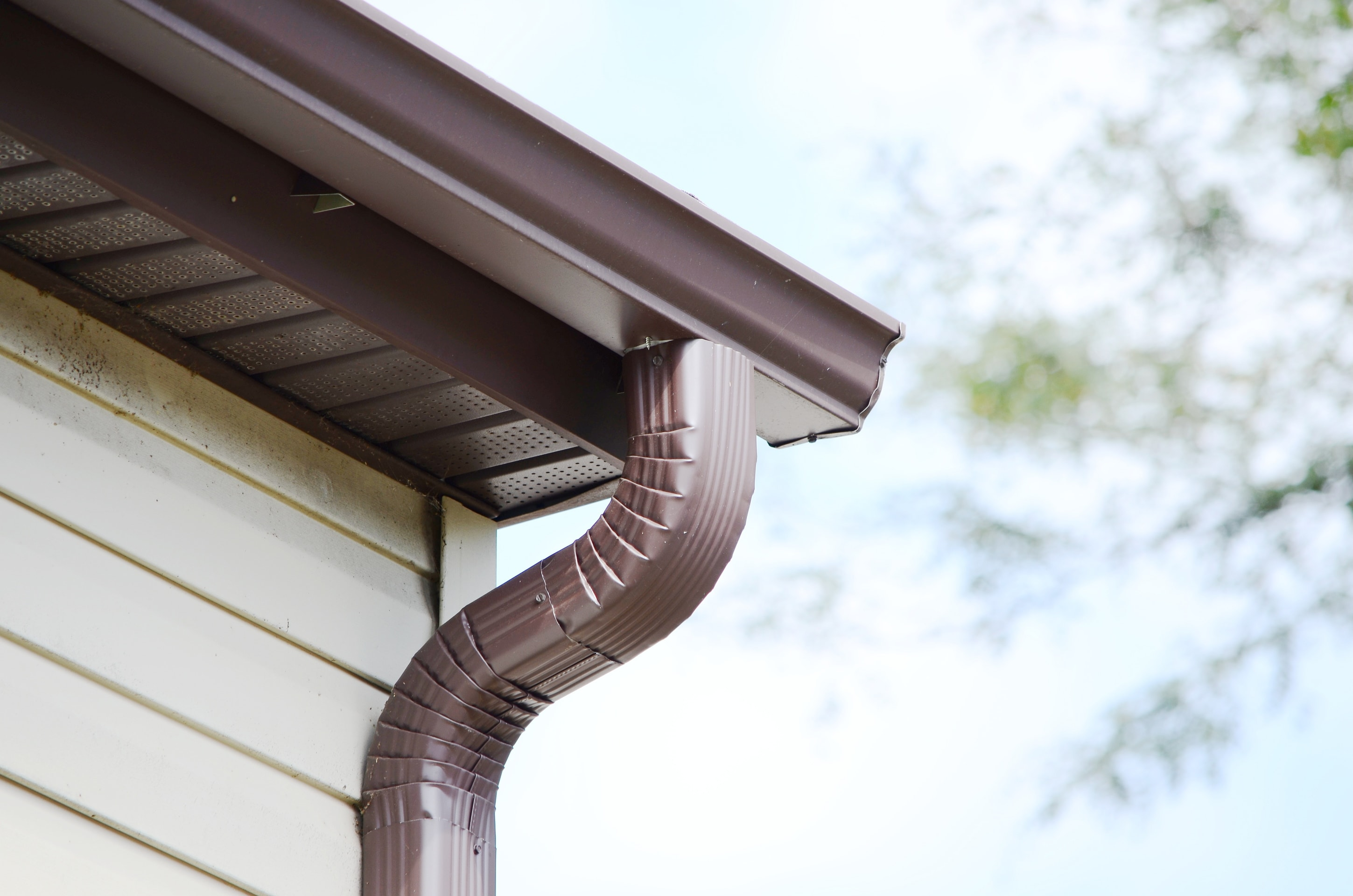 downspout on home
