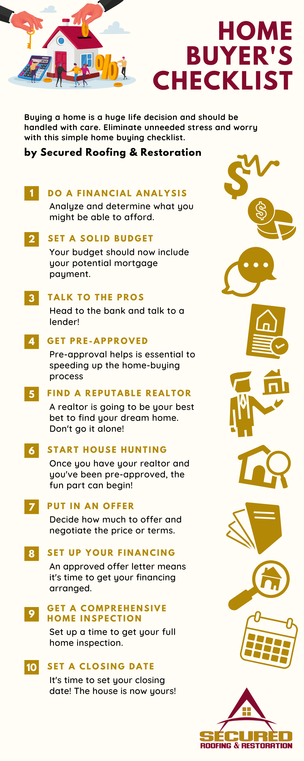 home buyer's checklist infographic