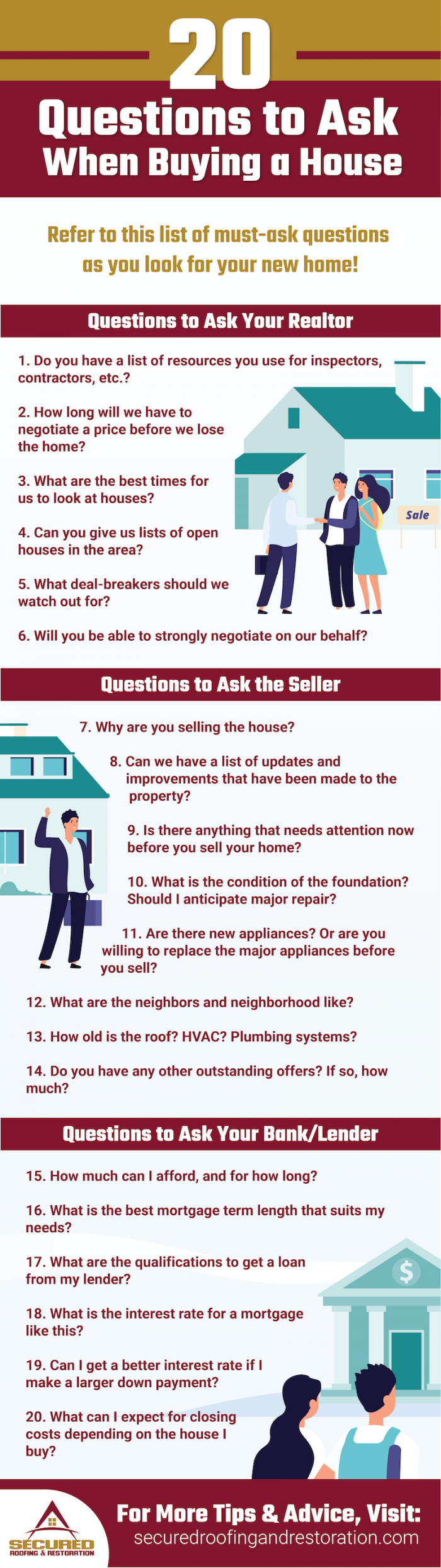 20 questions infographic